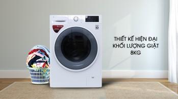 Máy giặt 8Kg LG FC1408S4W2 Inverter, 6 chuyển động